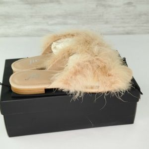 The Fix Nadia Sandals Dove Feather Slides